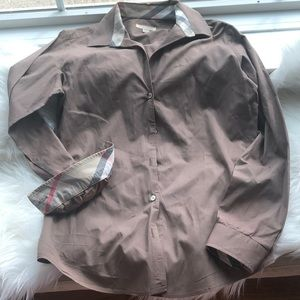 Burberry Brit Cotton Blouse Shirt Size Small